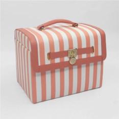 Бело-розовая шкатулка, размер 26,4х19х21,6см