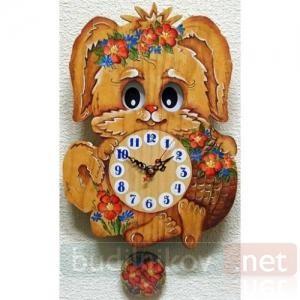 Настенные часы с маятником Бризоль Собачка