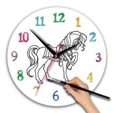 Детские часы-раскраска Лошадка