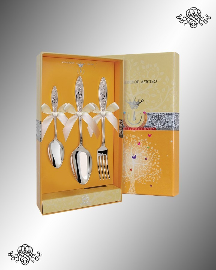 Серебряный набор десертный «Морозко»