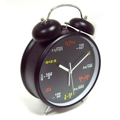 Черный будильник-гигант «Математический»