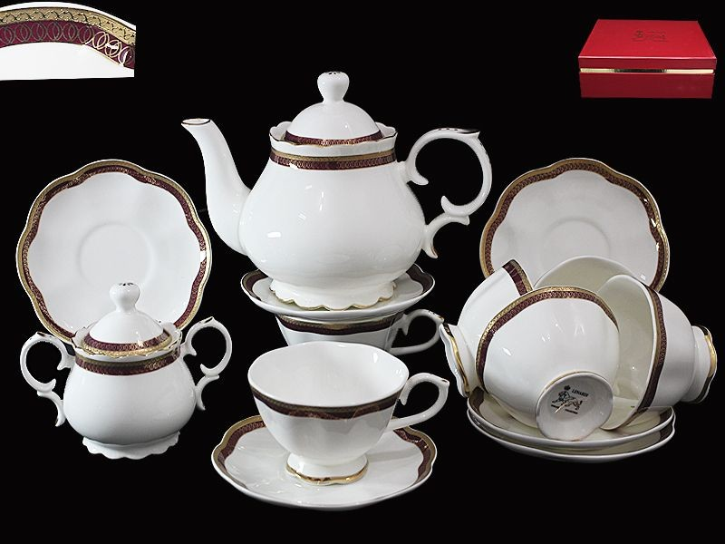Чайный сервиз 16 предметов в подарочной упаковке