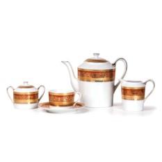 Фарфоровый чайный сервиз на 6 персон DIDON ORANGE MIMOSA