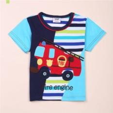 Футболка для мальчика Пожарная машина
