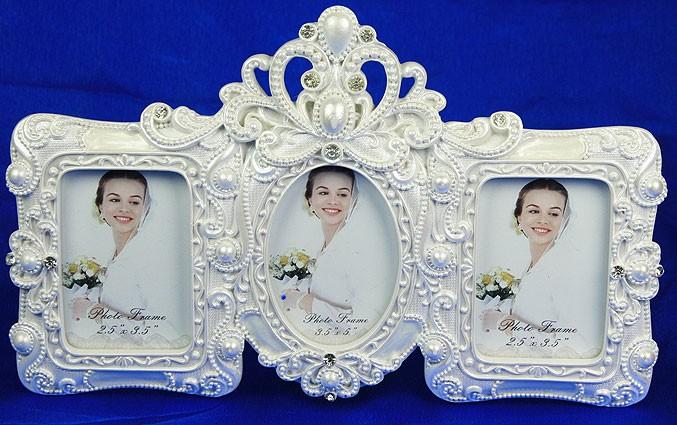 Фоторамка Свадебный жемчуг для 3 фото