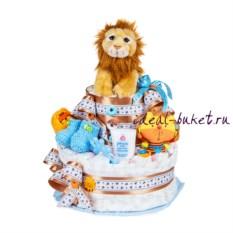 Торт из памперсов Лев
