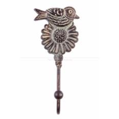 Вешалка-крючок Птичка на цветке
