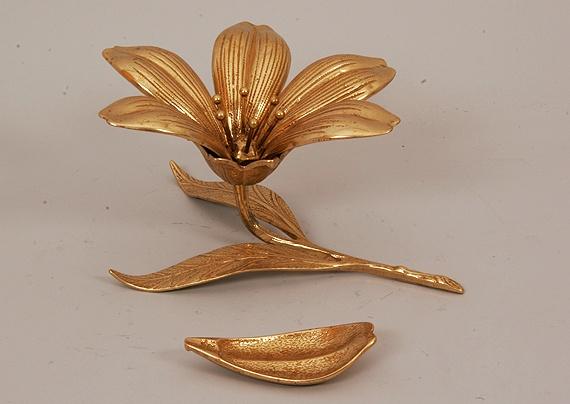 Насадка для колец из бронзы «Цветок»