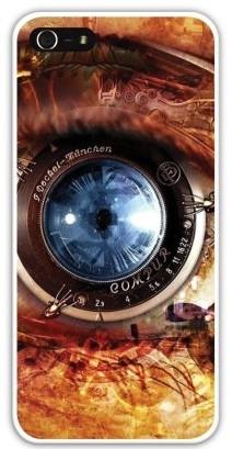 Чехол-накладка для iphone 5/5S, механич. глаз