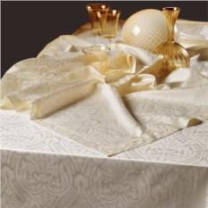 Скатерть и 8 салфеток Roberto Cavalli Damasco bianco