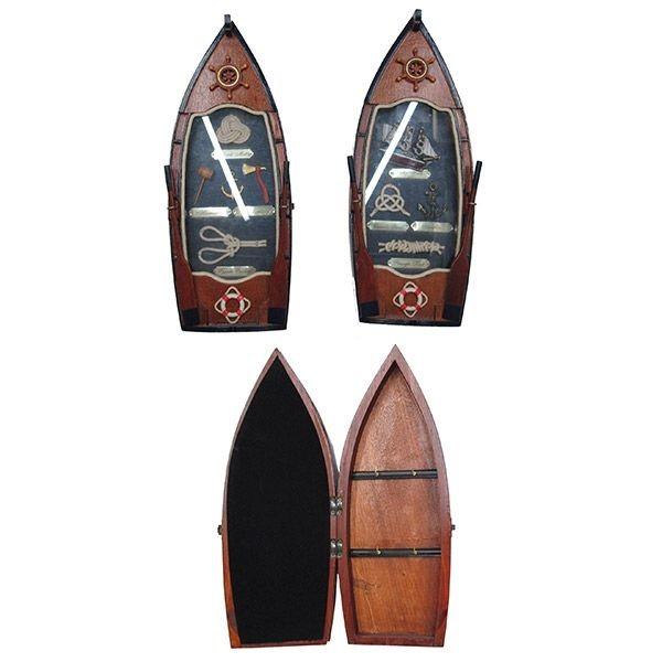 Ключница в виде лодки с морскими деталями