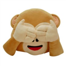 Подушка Emoji Monkey Can't See