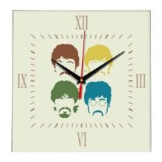 Настенные часы The_beatles_faces
