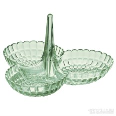 Зеленая менажница Tiffany