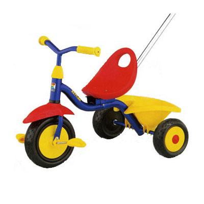 Велосипед трехколесный с корзиной и ручкой SUPERTRIKE