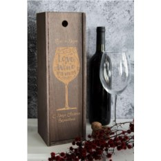 Ящик для вина с именной гравировкой Любовь как вино