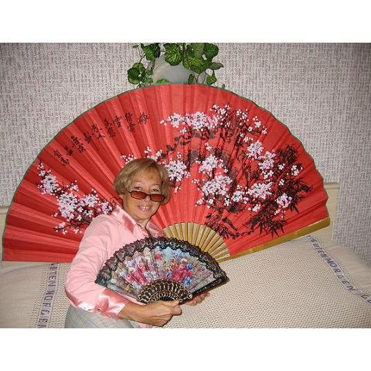 Веер большой декоративный «Дерево сакуры»