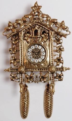 Бронзовые часы Кукушка