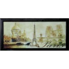 Картина с кристаллами Swarowski Панорама Париж