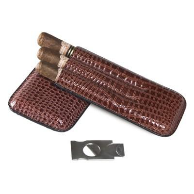 Футляр для 3-х сигар с гильотиной