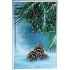 Картина Swarovski Зима. Шишки