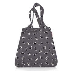 Сумка складная Mini maxi shopper cats graphite