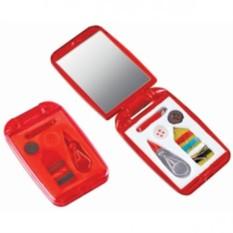 Швейный набор с зеркалом (цвет — красный)