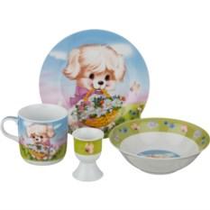 Наборы детской посуды на 1 персону (4 предмета)