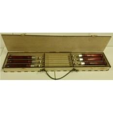 Набор профессиональных шампуров 620х10х2,5 мм. 6 шт.