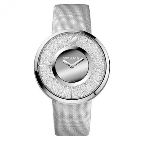 Серебристые часы Swarovski из нержавеющей стали Crystalline
