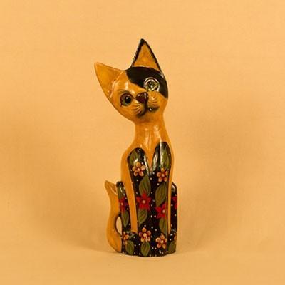 Статуэтка «Кошка рыжая с черными пятнами»