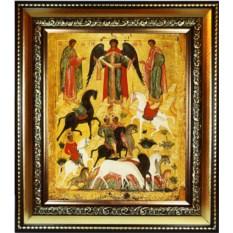 Копия иконы XV века на холсте Чудо о Флоре и Лавре