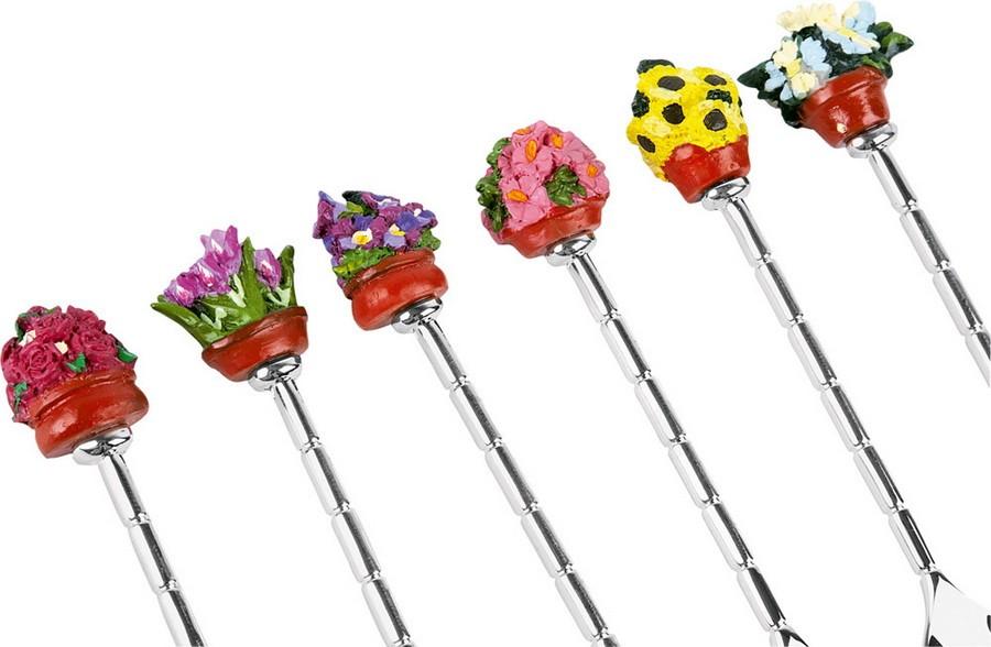 Набор ложек с наконечником в форме домашних цветков