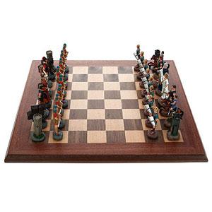 Шахматы из олова «Греки и Римляне»