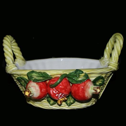 Корзина, декорированная гранатами