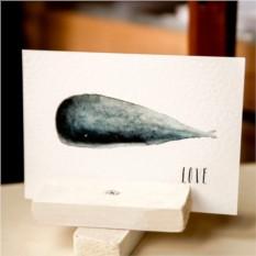 Открытка Whale Love