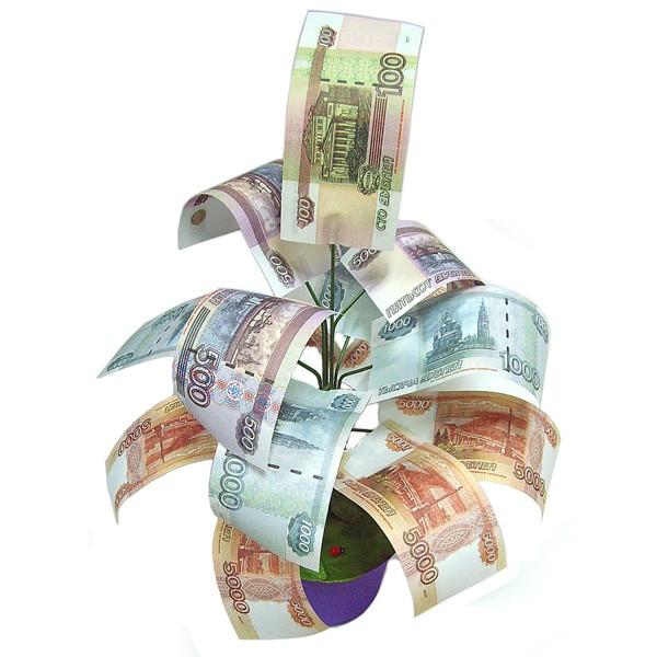 Сувенирное денежное дерево Рублевое