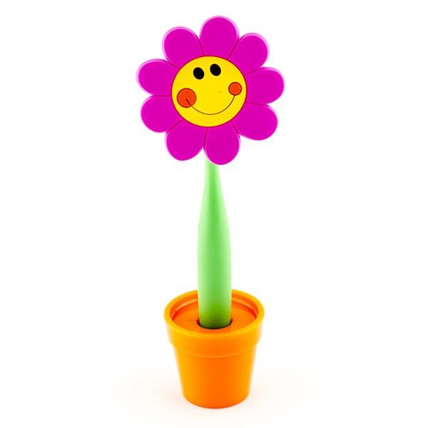 Ручка-цветок на подставке Большой смайл