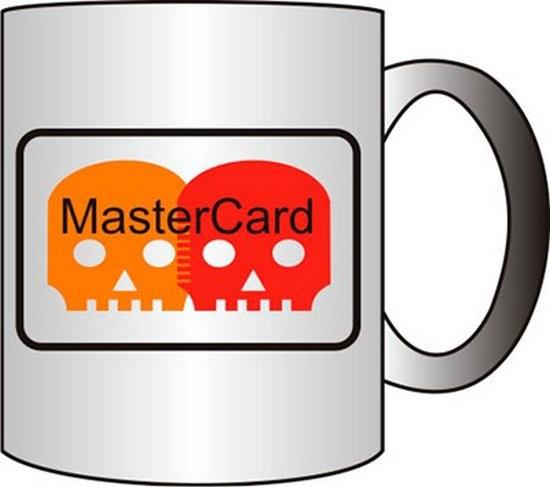 Прикольная кружка MasterCard