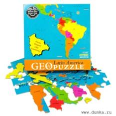Пазл Карта Южной Америки (английская версия)