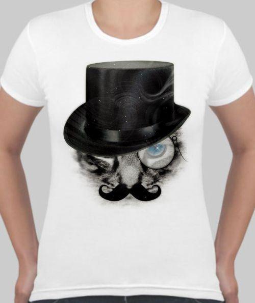 Женская футболка Кот с усами