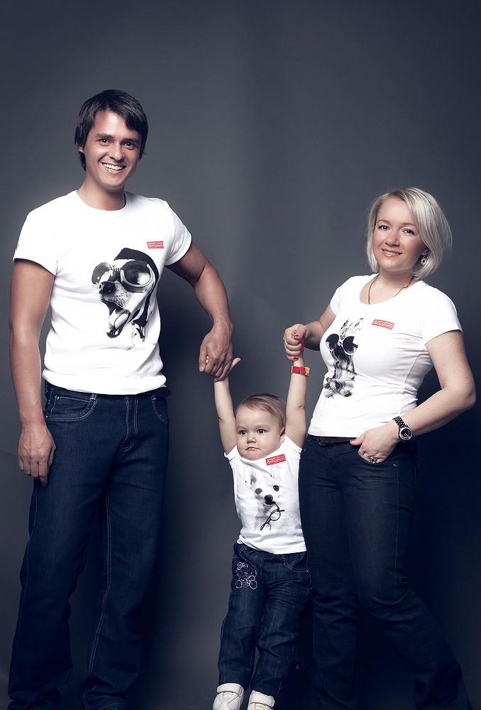 Комплект белых футболок Acapulco для мамы, папы и ребенка