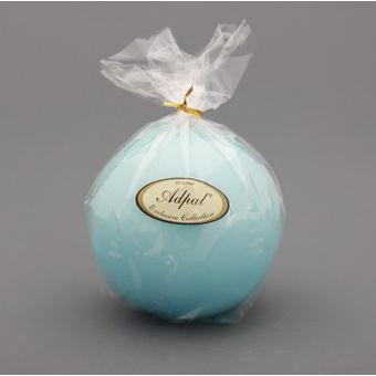 Свеча-шар лакированная светло-голубая