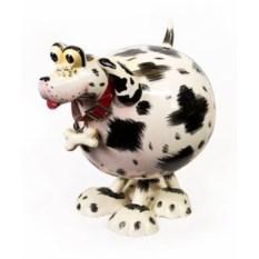 Керамическая маленькая фигурка на пружине Собака