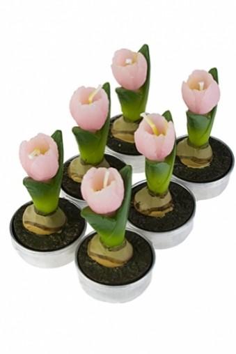 Набор свечей Тюльпаны розовые