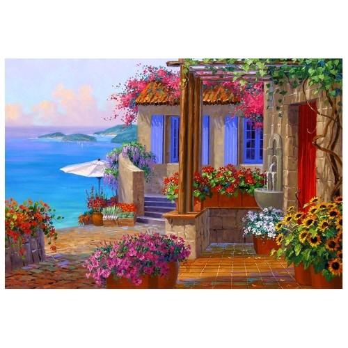 Картина-раскраска по номерам на холсте Выход к морю