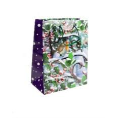 Бумажно-ламинированный пакет Новогодний (18х23 см)