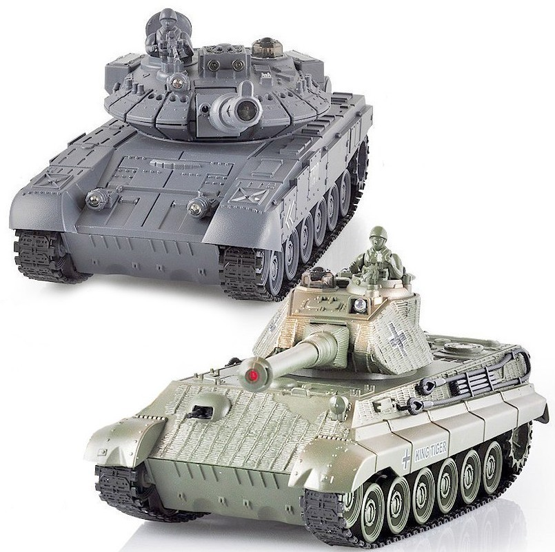 Радиоуправляемый танковый бой T90 и Tiger King 1:28