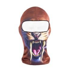 Лыжная маска-балаклава с рисунком Тигр с пастью