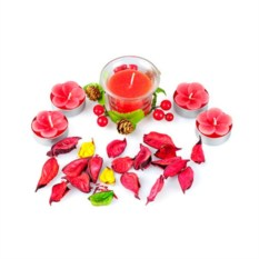 Набор свечей Нежность красный